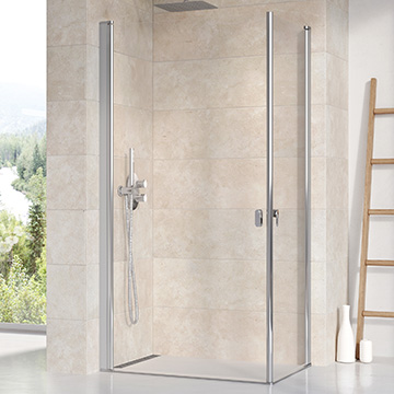 Chrome shower enclosures and shower doors