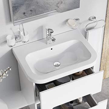 Chrome washbasins