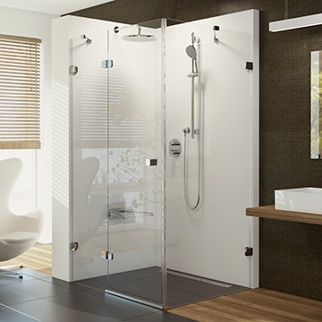 Shower enclosures, seats and hydromassage panels