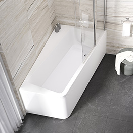 Asymmetric bathtubs