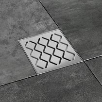 SN501 plastic drain with stainless steel grid